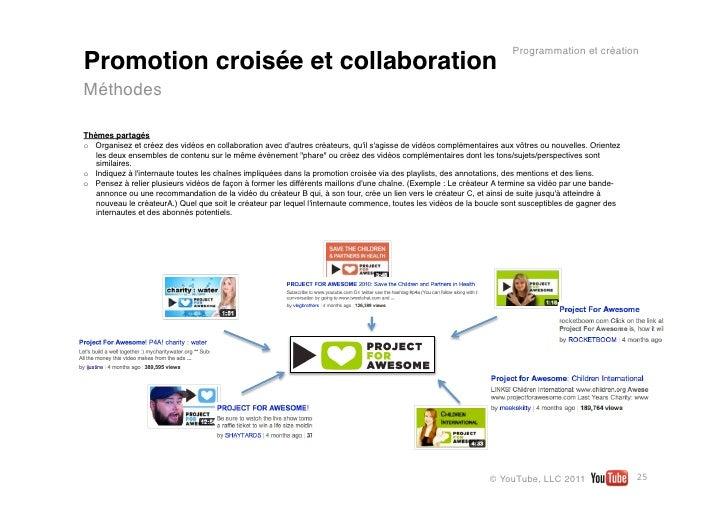 Programmation et créationPromotion croisée et collaborationMéthodesThèmes partagéso Organisez et créez des vidéos en coll...