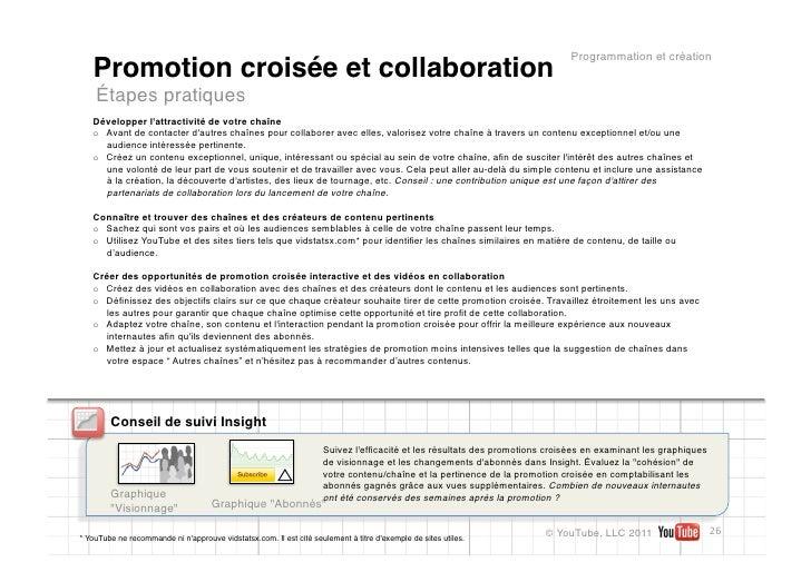 Programmation et création   Promotion croisée et collaboration    Étapes pratiques   Développer lattractivité de votre cha...