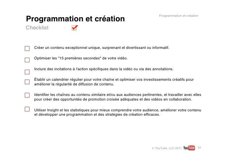 Programmation et créationProgrammation et créationChecklist   Créer un contenu exceptionnel unique, surprenant et divertis...