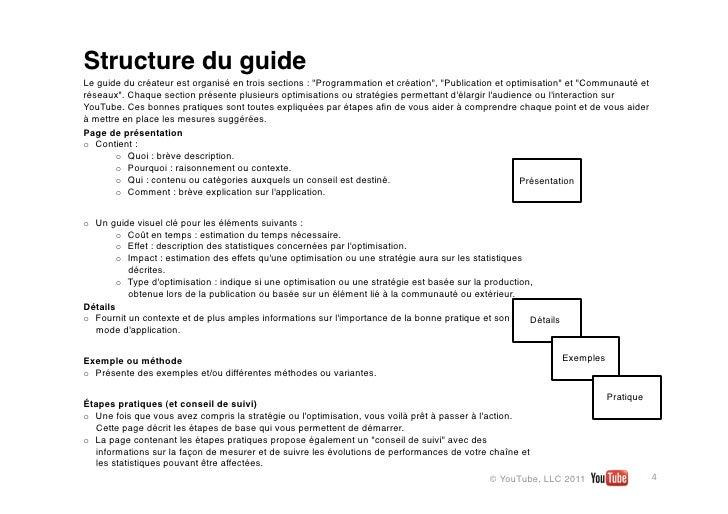 """Structure du guideLe guide du créateur est organisé en trois sections: """"Programmation et création"""", """"Publication et optim..."""