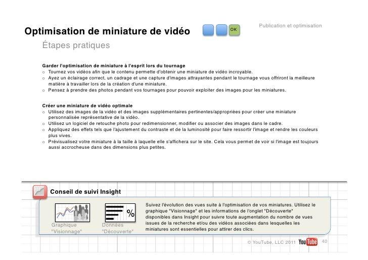 Publication et optimisationOptimisation de miniature de vidéo                                                          OK ...