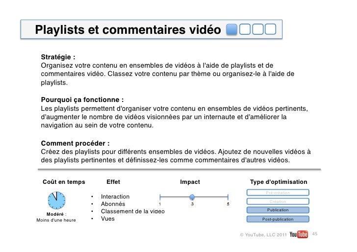 Playlists et commentaires vidéo Stratégie: Organisez votre contenu en ensembles de vidéos à laide de playlists et de comm...