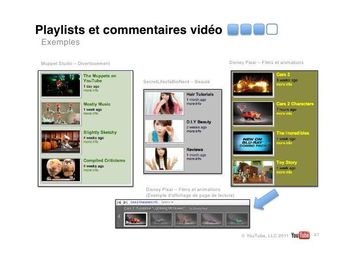 Playlists et commentaires vidéo Exemples MuppetStudio – Divertissement                                         Disney Pix...