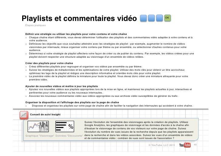 Playlists et commentaires vidéo                                                                                         OK...