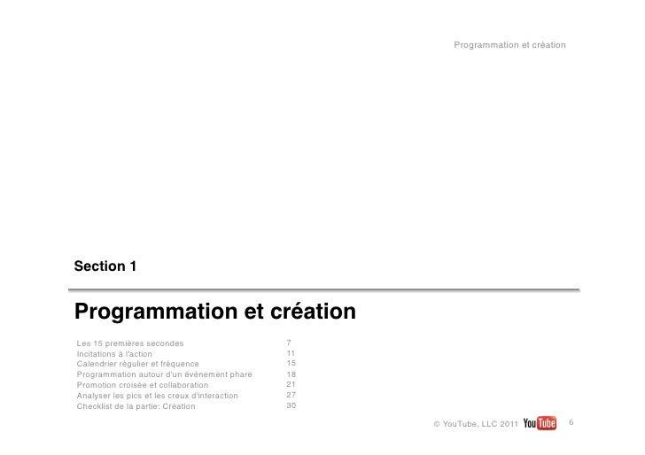Programmation et créationSection1Programmation et créationLes 15premièressecondes                      7Incitations à l...