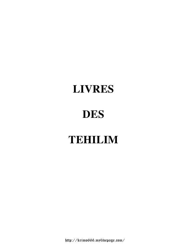 LIVRES         DES TEHILIMhttp://krimo666.mylivepage.com/