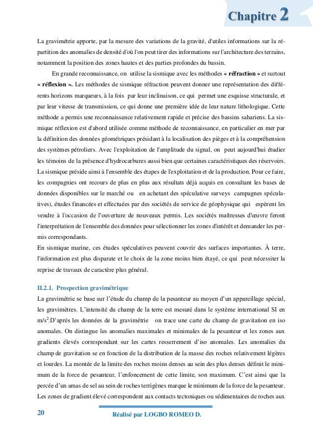 20 Réalisé par LOGBO ROMEO D. La gravimétrie apporte, par la mesure des variations de la gravité, d'utiles informations su...