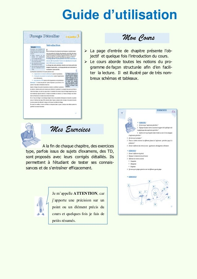 GUIDE D'UTILISATION Guide d'utilisation Mon Cours  La page d'entrée de chapitre présente l'ob- jectif et quelque fois l'i...