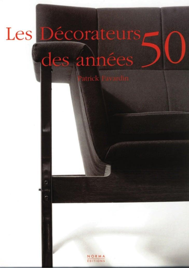 Les décorateurs des années 50 (livre)