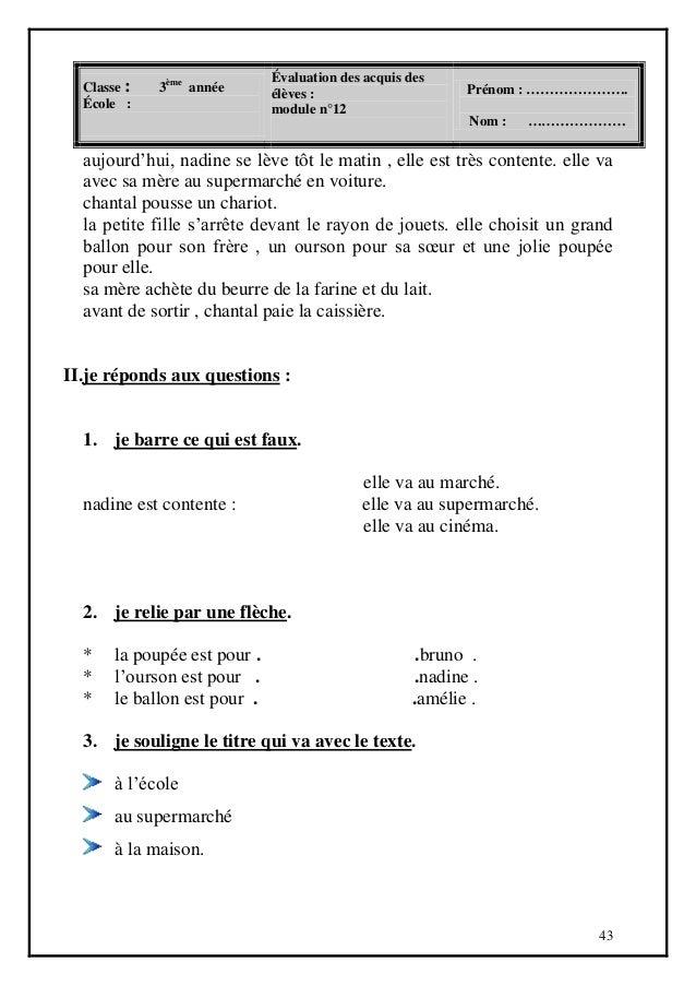 Livre Parascolaire Français 3 ème Année Primaire
