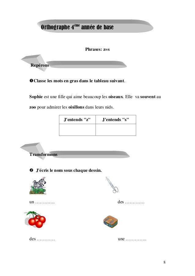 Livre Parascolaire Francais 4 Eme Annee Primaire