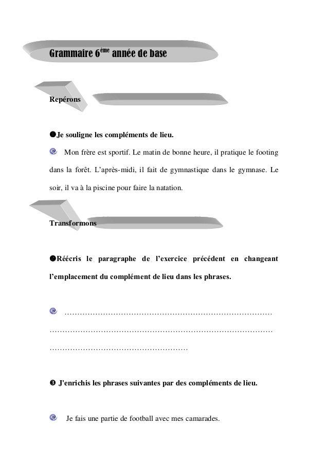 Livre Parascolaire Francais 6 Eme Annee Primaire