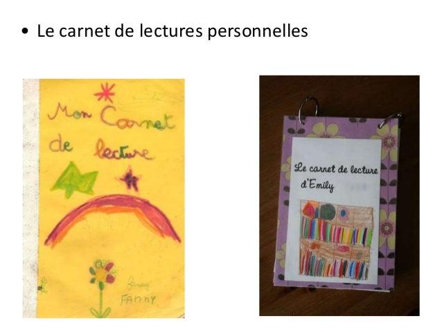 • Le carnet de lectures personnelles