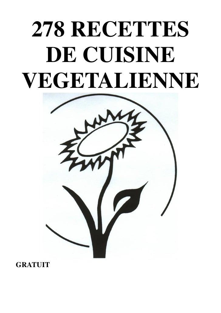 278 RECETTES    DE CUISINE  VEGETALIENNE     GRATUIT               1
