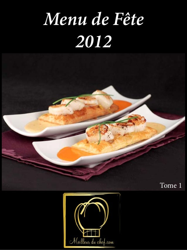 Menu de Fête   2012               Tome 1