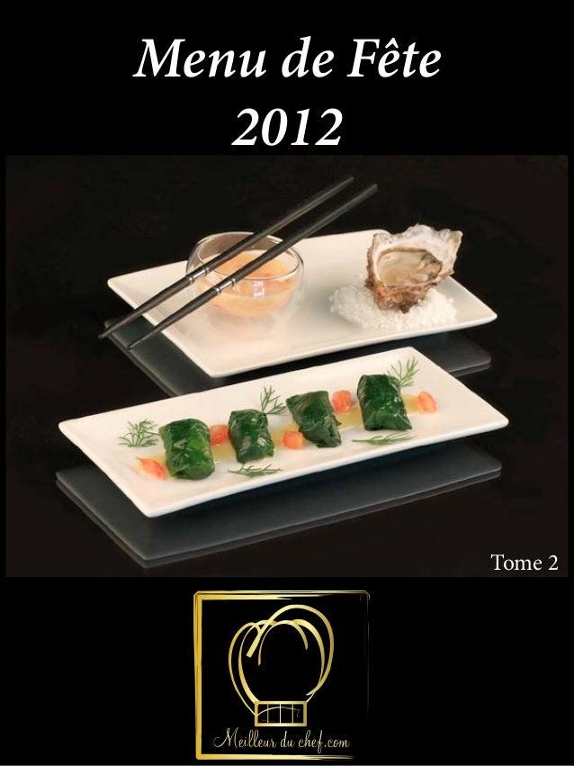 Menu de Fête   2012               Tome 2