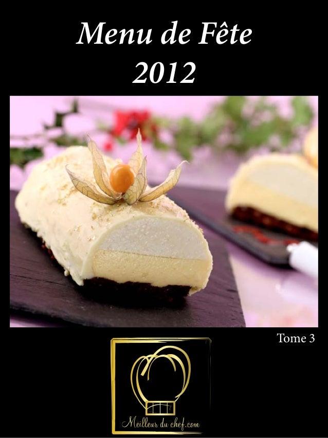 Menu de Fête   2012               Tome 3
