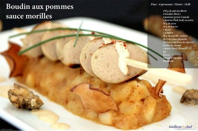 Boudin aux pommes   Pour:4 personnes / Durée:1h30                                150 g de pâte feuilletée           ...