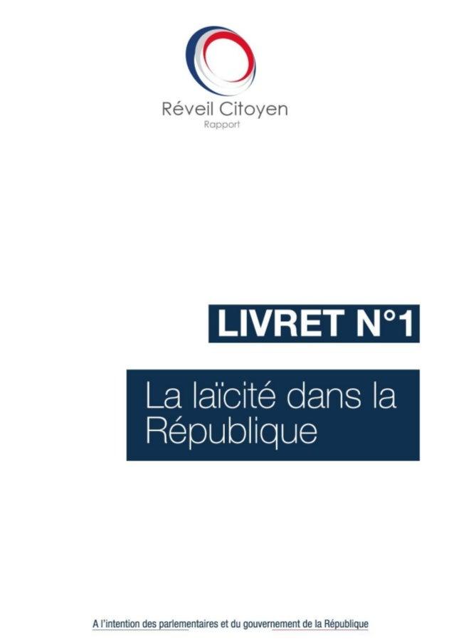 1Rapport sur la laïcité - Réveil Citoyen