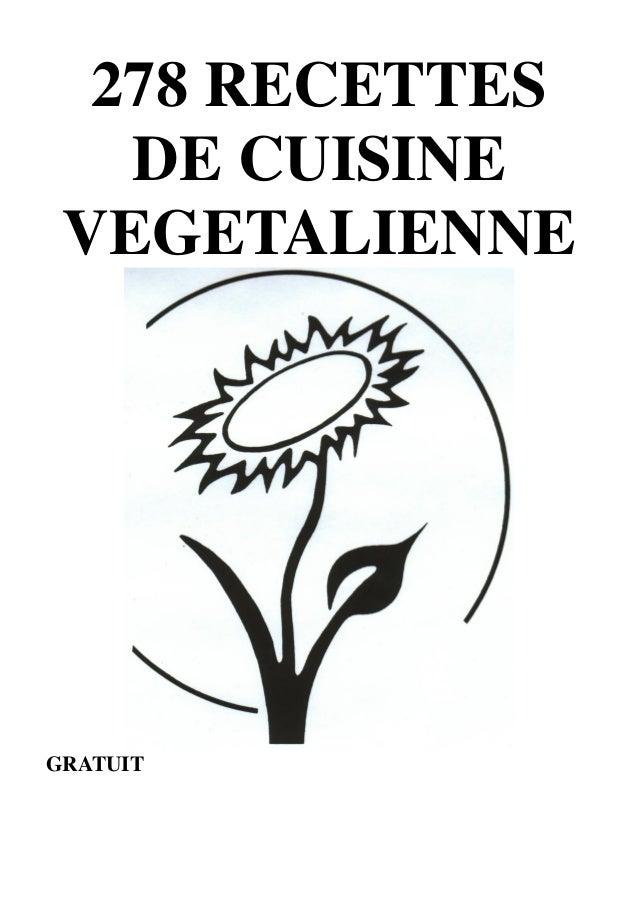 278 RECETTES  DE CUISINE  VEGETALIENNE  1  GRATUIT