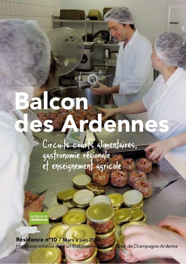 1 Résidence n°10/Mars à juin 2010 Immersion créative dans un établissement Public Local de Champagne-Ardenne Balcon des ...
