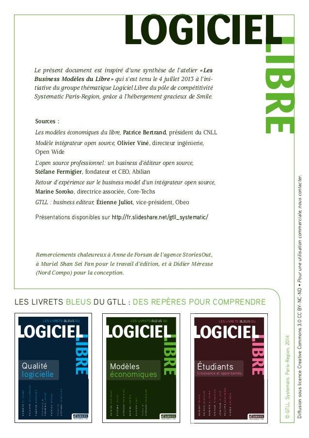 Livret bleu modeleseconomiques_gt-logiciellibre_systematic Slide 2
