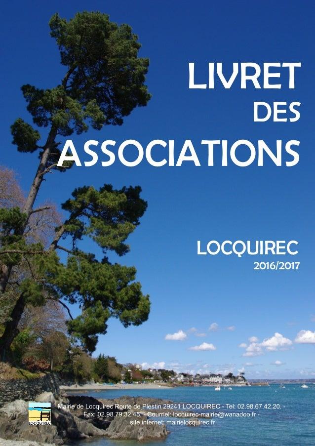 LIVRET DES ASSOCIATIONS LOCQUIREC 2016/2017