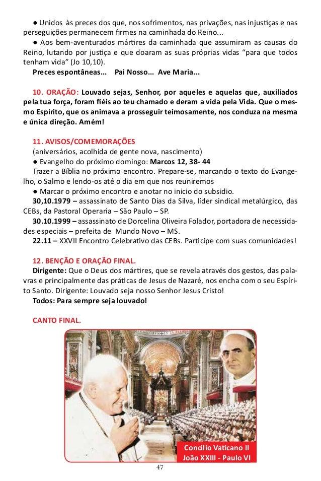 48 15o Encontro PREPARANDO O AMBIENTE: Bíblia, vela, colcha de retalho, pão para partilhar. 1. CHEGADA: Silêncio e oração ...
