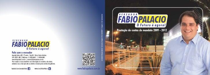 Livreto Fabio Palacio - Prestação de Contas 2009-2012 - Junho de 2012