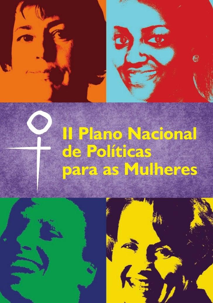 II Plano Nacionalde Políticaspara as Mulheres