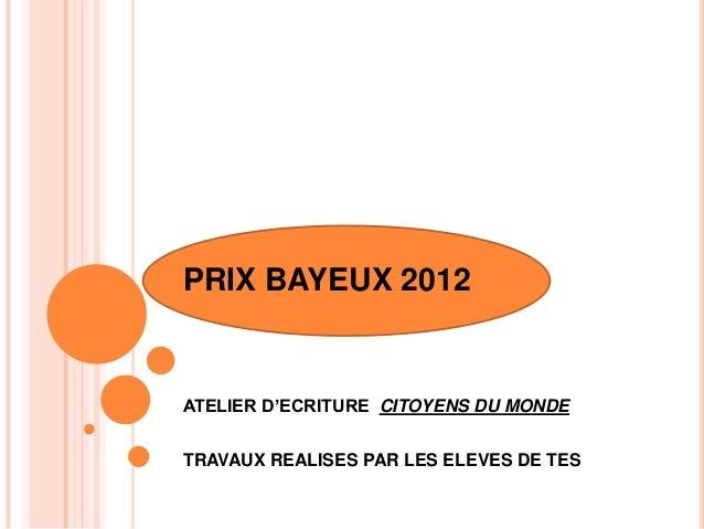 Livret prix bayeux 2012  Slide 2