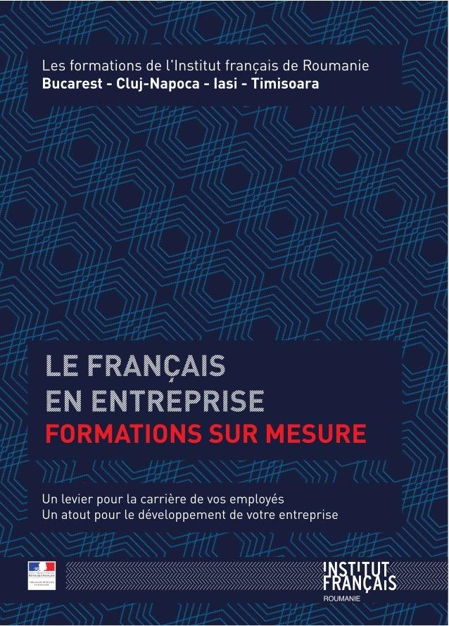 UN DOUBLE RÉSEAU À VOTRE SERVICE EN ROUMANIE ` Le réseau culturel français vous donne rendez-vous dans l'un des 4 établiss...