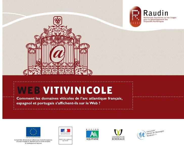 Comment les domaines viticoles de l'arc atlantique français,                 espagnol et portugais s'affichent-ils sur le ...