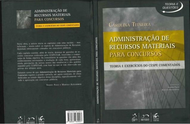 Livro   administração de materiais - carolina teixeira