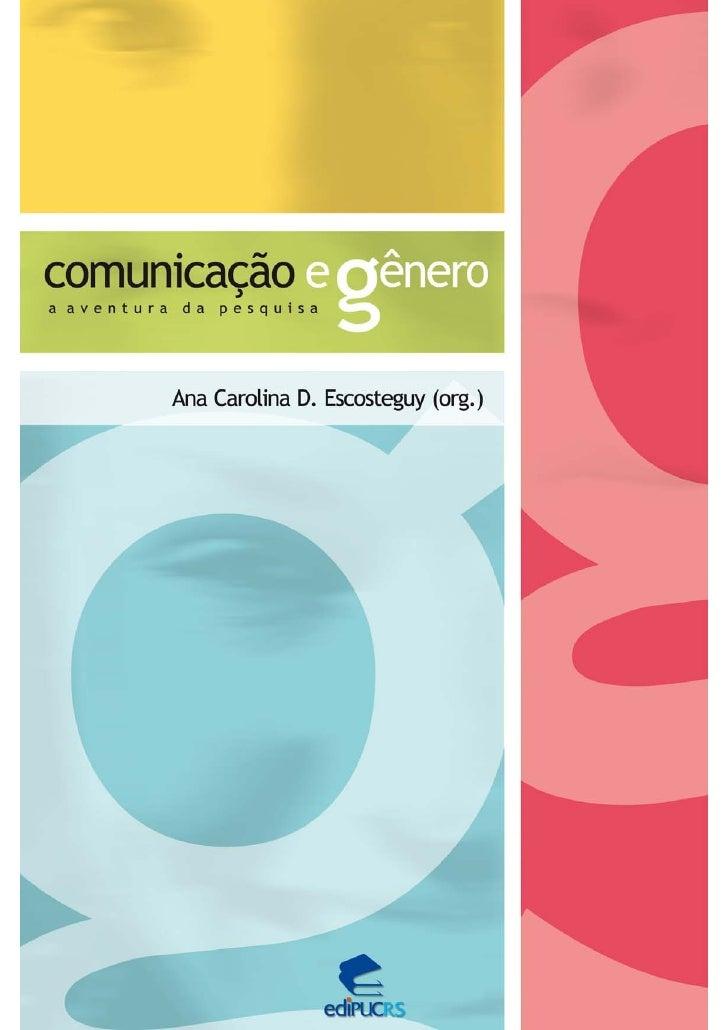 Livro Comunicação e Gênero