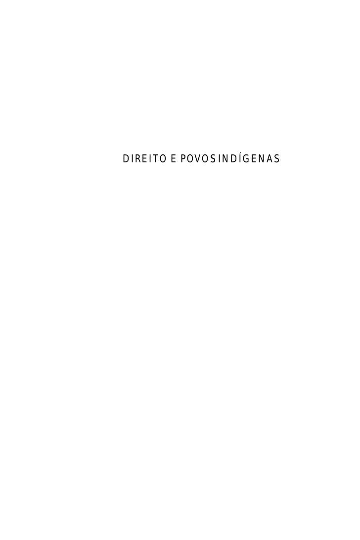 Direito e Povos Indígenas