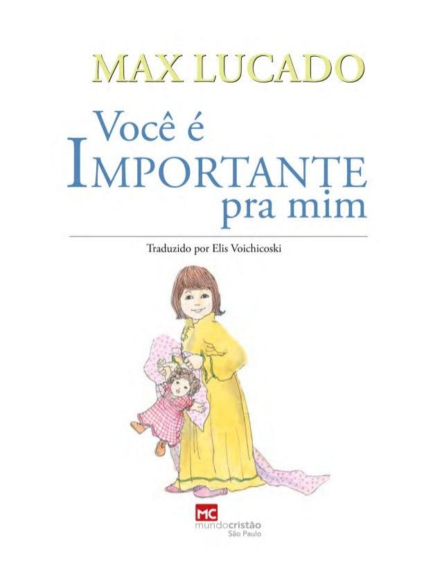 Livro ebook-voce-e-importante-para-mim