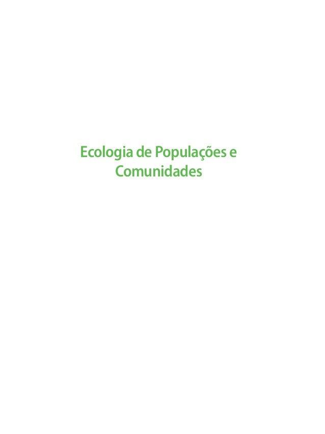 Ecologia de Populações e Comunidades