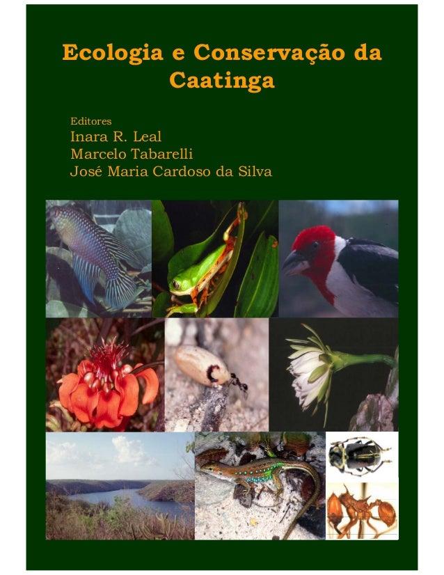 Ecologia e Conservação da Caatinga Editores Inara R. Leal Marcelo Tabarelli José Maria Cardoso da Silva