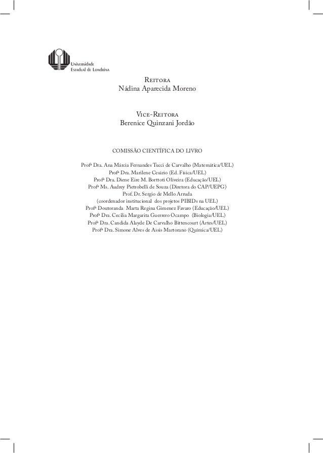 Livro   experiencias e reflexoes. prodocencia 2012 Slide 2