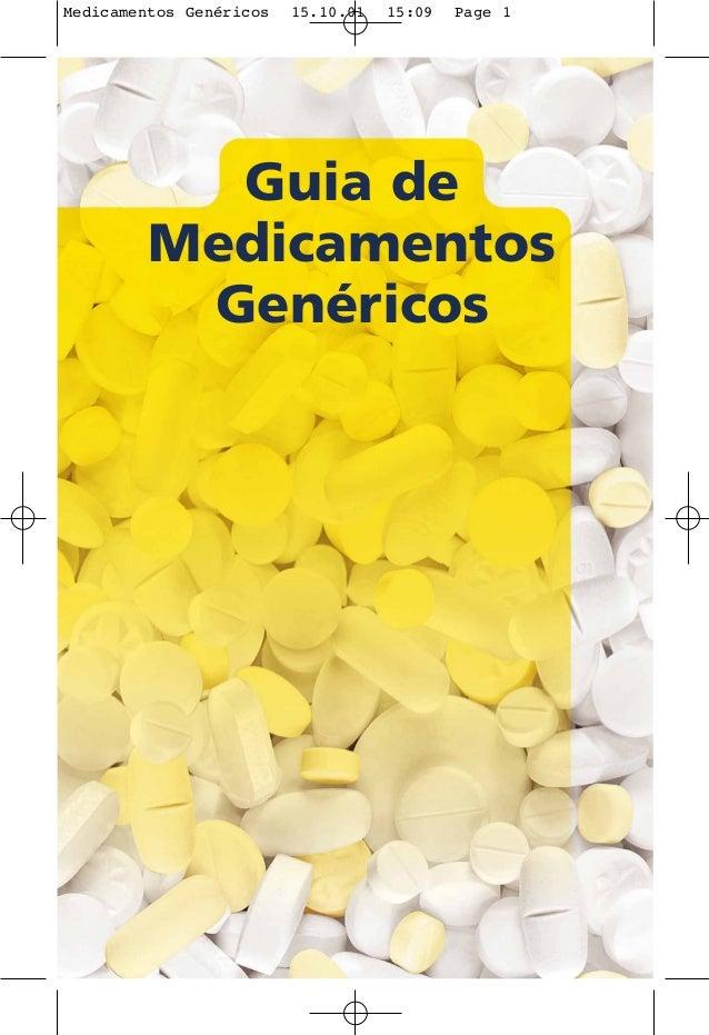Medicamentos GenŽricos 15.10.01 15:09 Page 1  Guia de  Medicamentos  Genéricos
