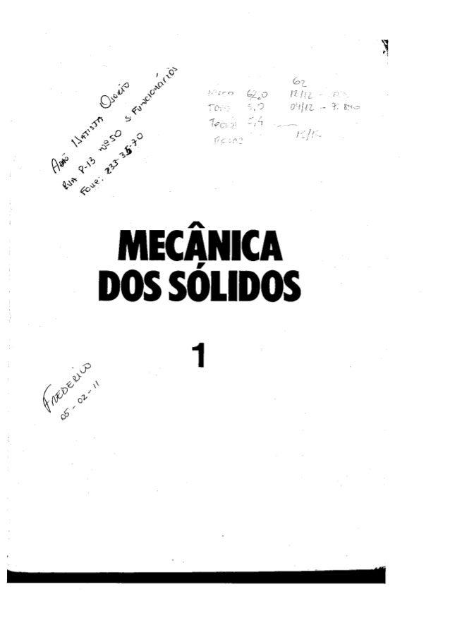 Livro   mecânica dos sólidos timoshenko - vol 1