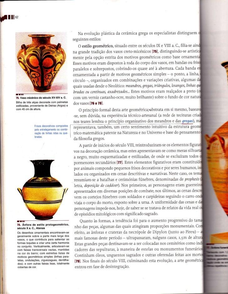 llloz                                                          Na evolução plástica da cerâmica gÍega os especialistas dis...
