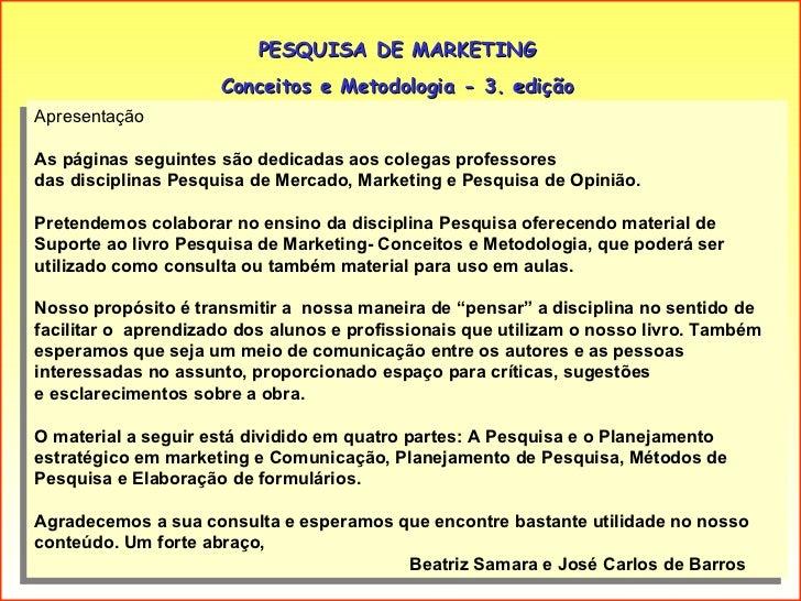 Slides do livro: Pesquisa de Marketing Slide 2