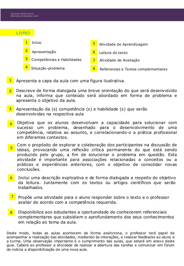 Atividade de Avaliação livro 1 Início 2 Apresentação 3 Competências e Habilidades 4 Situação-problema 5 Atividade de Apren...