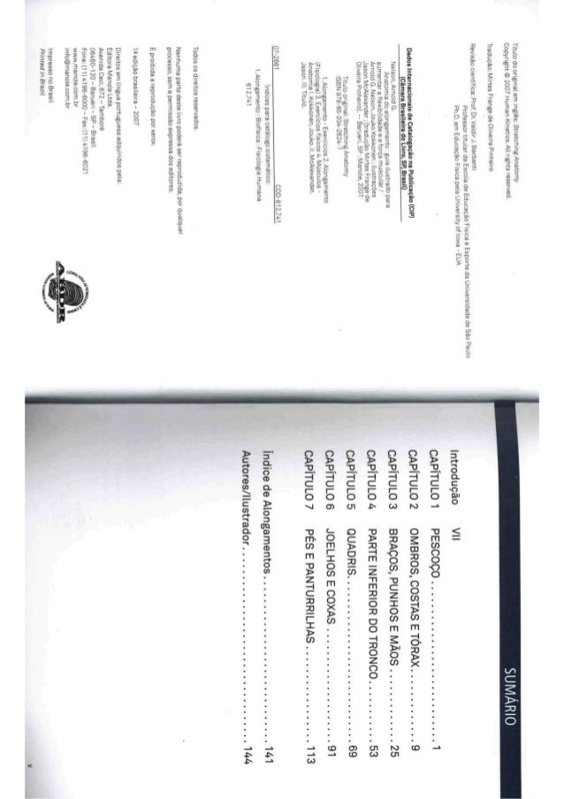 Livro anatomia do alongamento Slide 3