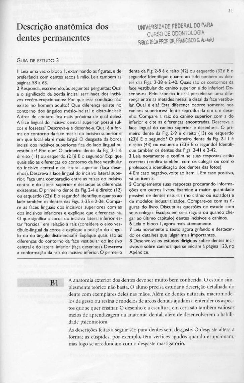 31Descrição anatómica dos                                        UNIVERSIDADE FEDERAL 00 f»MRA                            ...