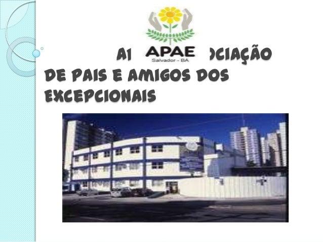 APAE - Associaçãode Pais e Amigos dosExcepcionais