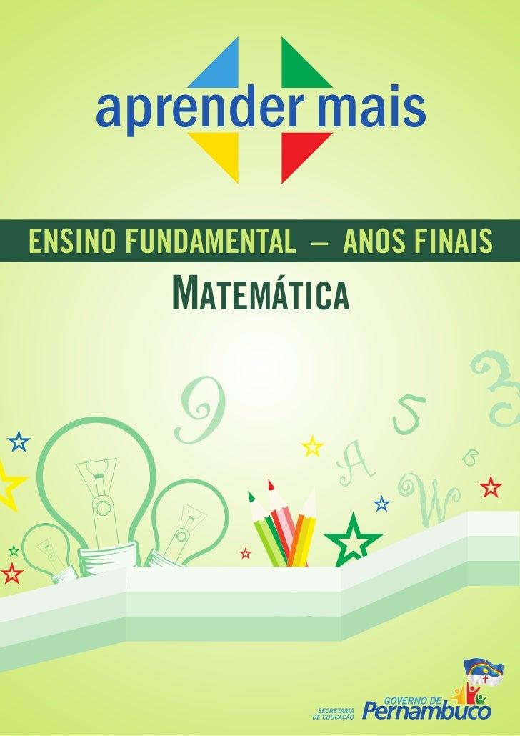 aprender maisENSINO FUNDAMENTAL – ANOS FINAIS         MATEMÁTICA         9                     A                         5...