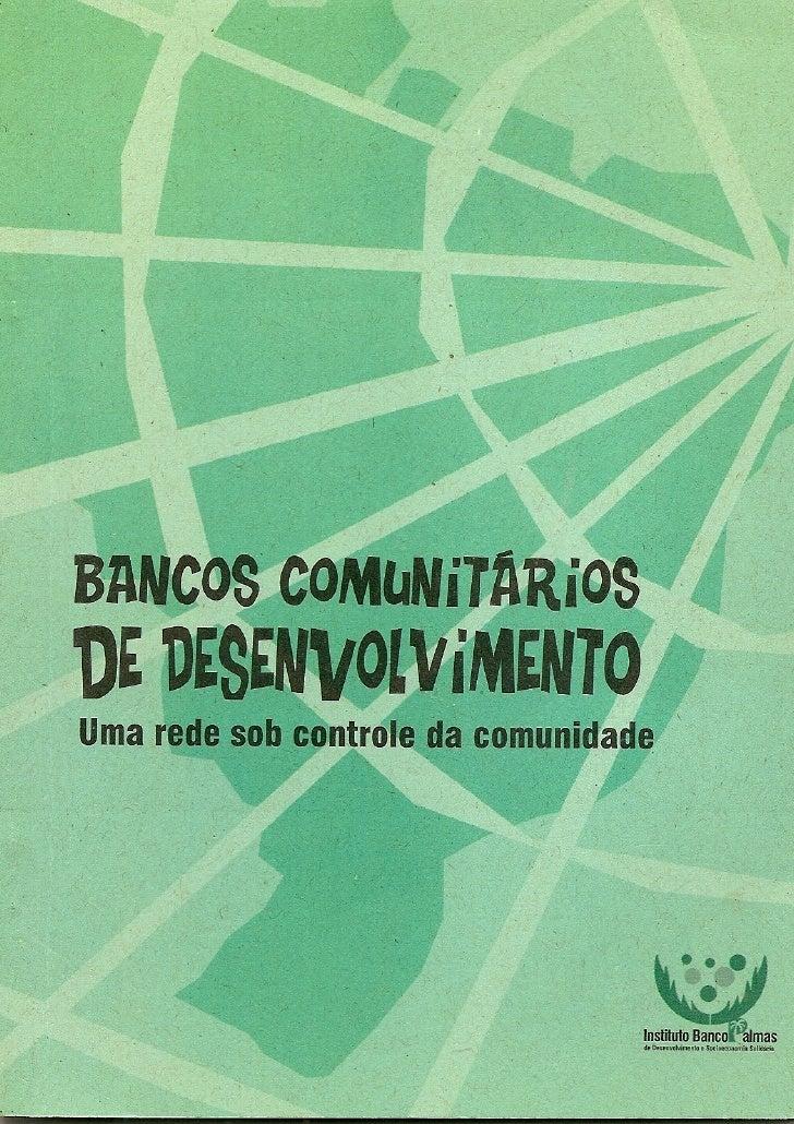 Bancos Comunitários de Desenvolvimento